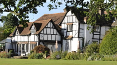 Ghyll Manor Hotel in Horsham in a sunny day