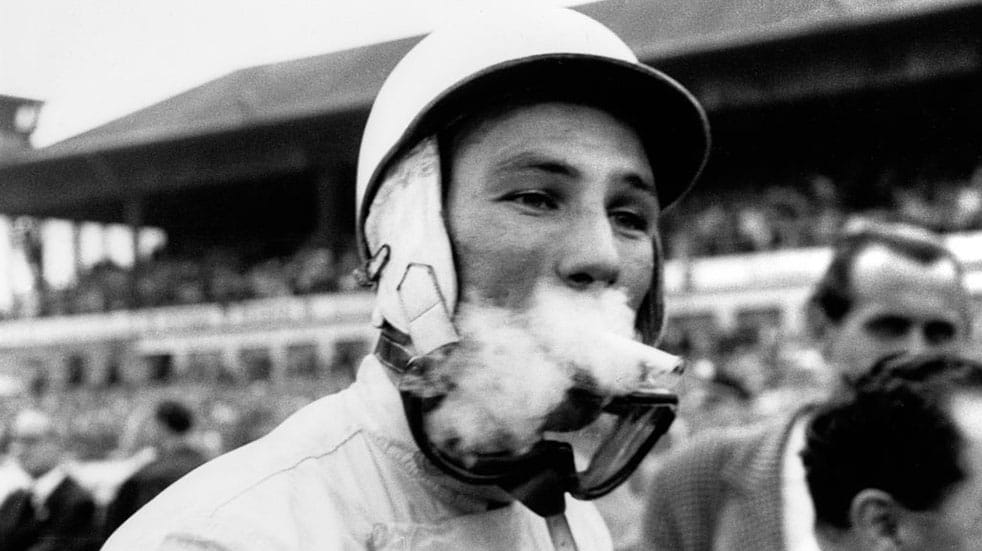 10 amazing facts about Stirling Moss; smoking