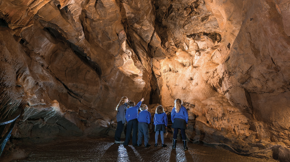 Explore the limestone gorge and caves at Cheddar Gorge