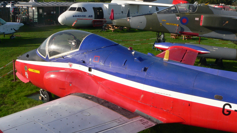 Several aircrafts to see at Bournemouth Aviation Museum