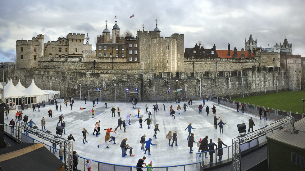 Ice rink at Tower of london