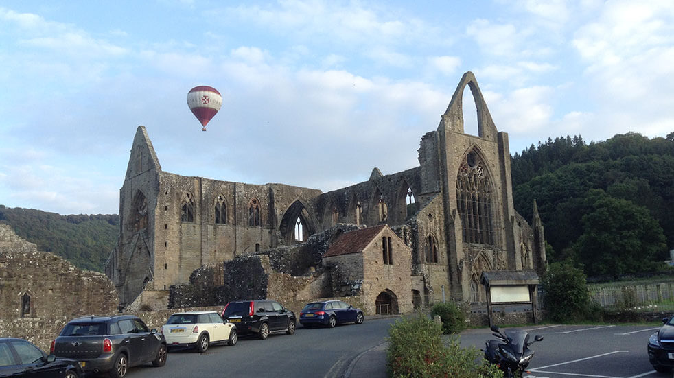 Take a ballon ride over Tintern Abbey: credit John Bulpin