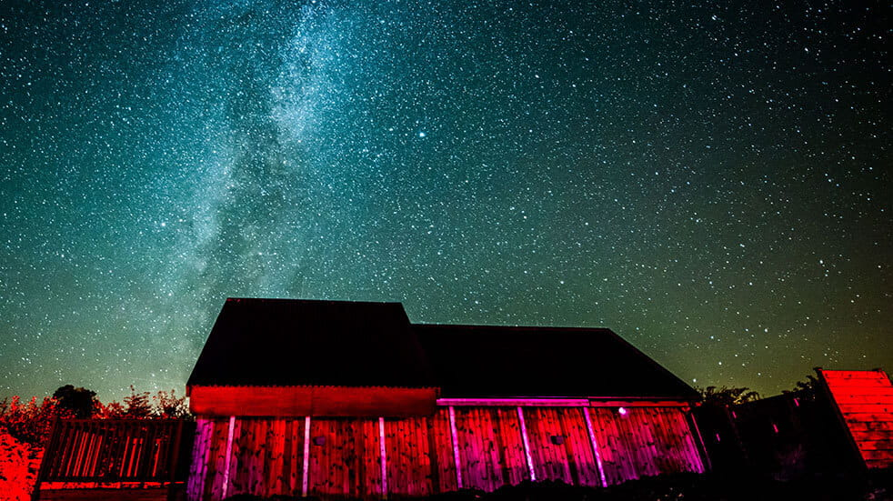 Enjoy a star gazing trip in Northumberland National Park: credit Battlesteads Hotel