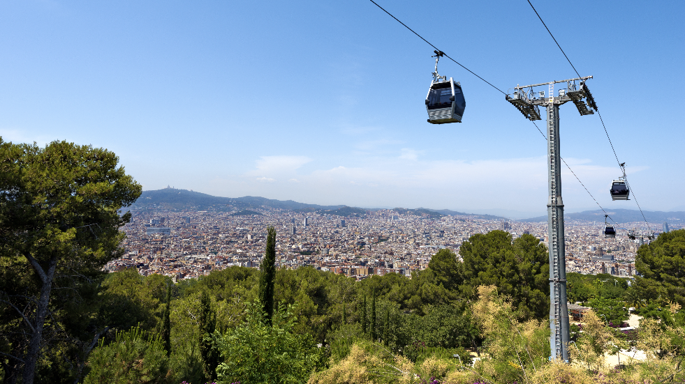 Montijuic cable car Barcelona