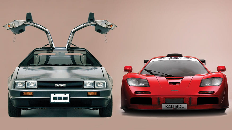The best classic cars: 100 iconic cars Delorean and Maclaren GTR