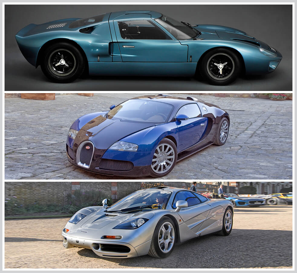 The 100 best classic cars: Ford GT40, Bugatti Veyron, McLaren F1