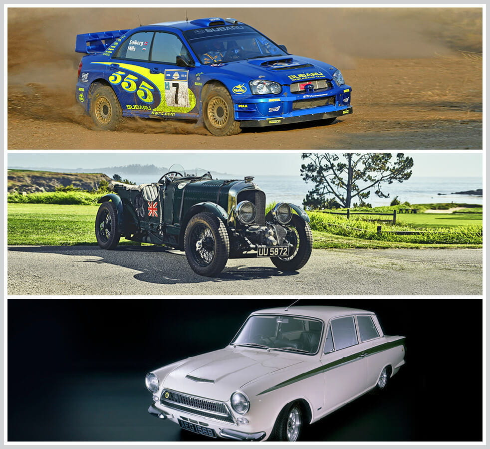 The 100 best classic cars: 1995 Subaru Impreza 555, Bentley Blower, Ford Cortina Mk1