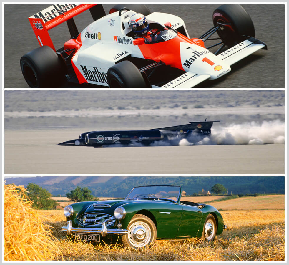The 100 best classic cars: McLaren MP4/4 F1 car, Thrust SSC, Austin Healey 3000