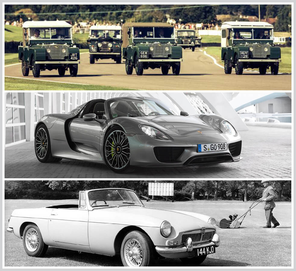 The 100 best classic cars: Land Rover, Porsche 918 Spyder, MG B