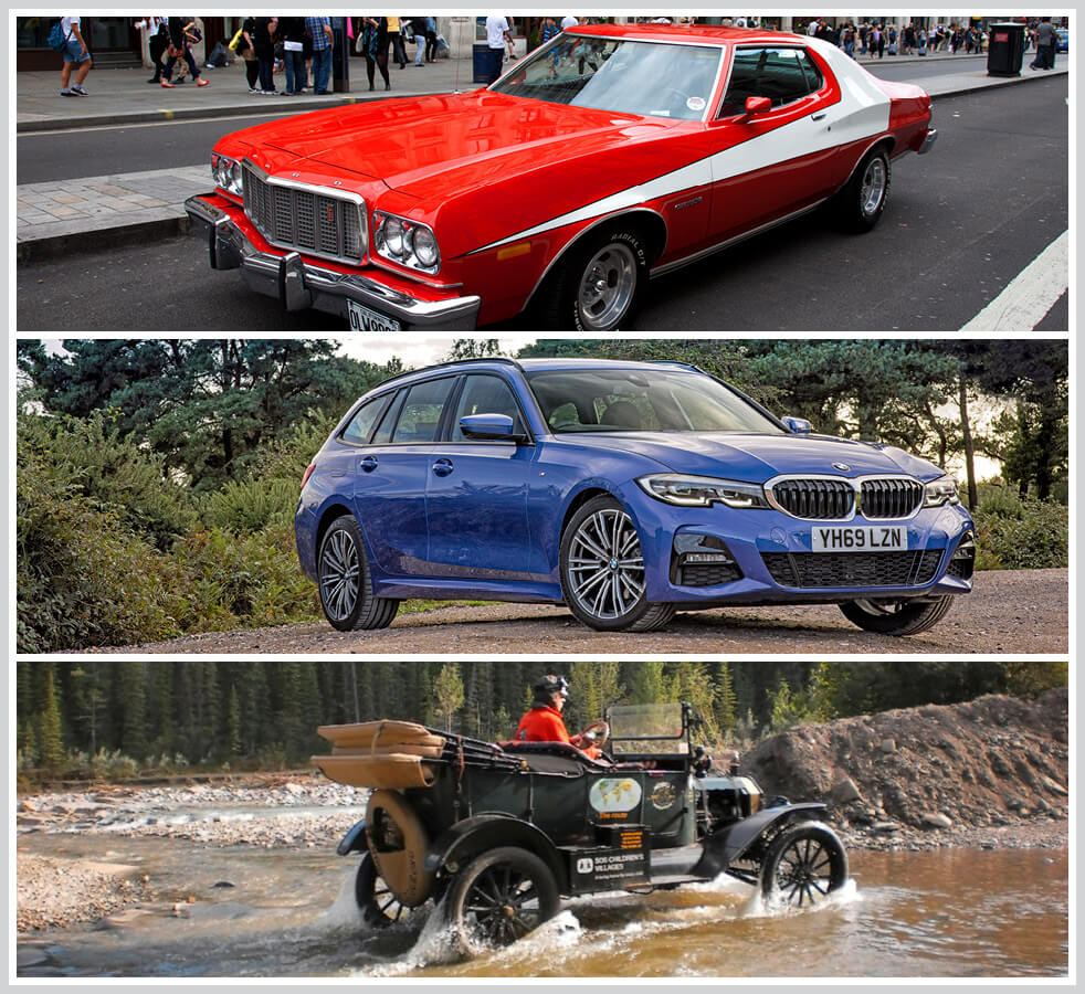 The 100 best classic cars: Ford Gran Torino, BMW 3-Series Estate, Ford Model T