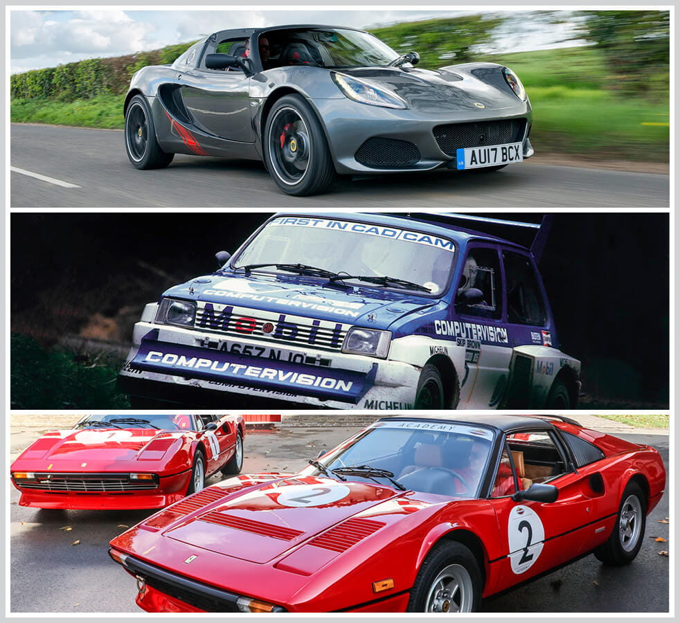 The 100 best classic cars: Lotus Elise, Metro 6R4, Ferrari 308 GTS