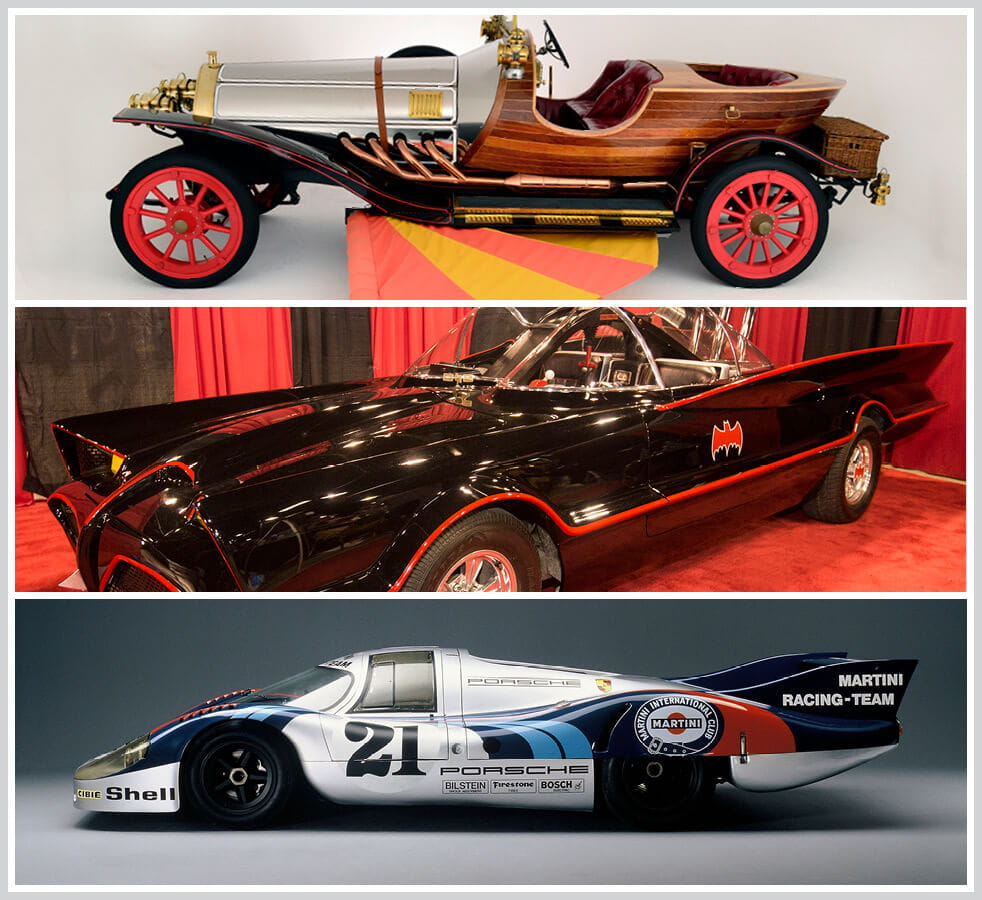 The 100 best classic cars: Chitty Chitty Bang Bang, The Batmobile, Porsche 917