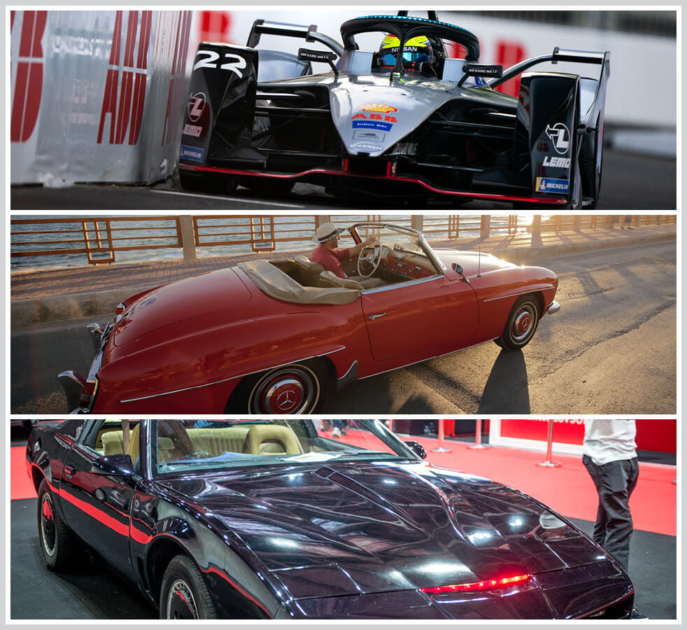 The 100 best classic cars: Formula E Race Car, Mercedes 190SL, Pontiac Firebird