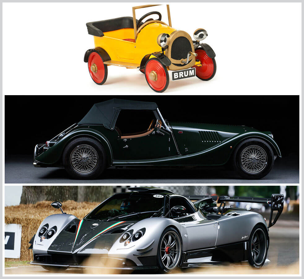 The 100 best classic cars: Brum, Morgan 4 wheeler, Pagani Zonda