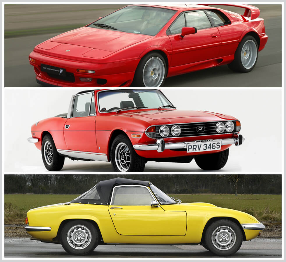 The 100 best classic cars: Lotus Esprit, Triumph Stag, Lotus Elan