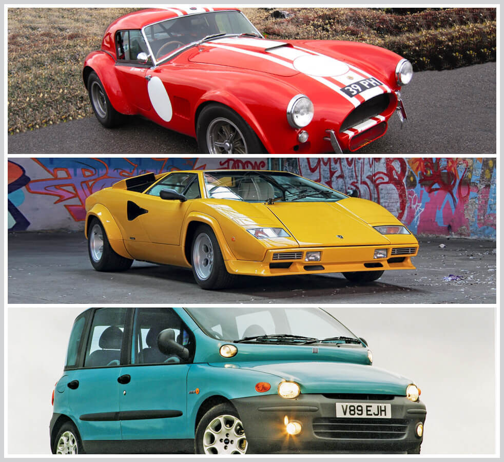 The 100 best classic cars: AC Cobra, Lamborghini Countach and Fiat Multipla