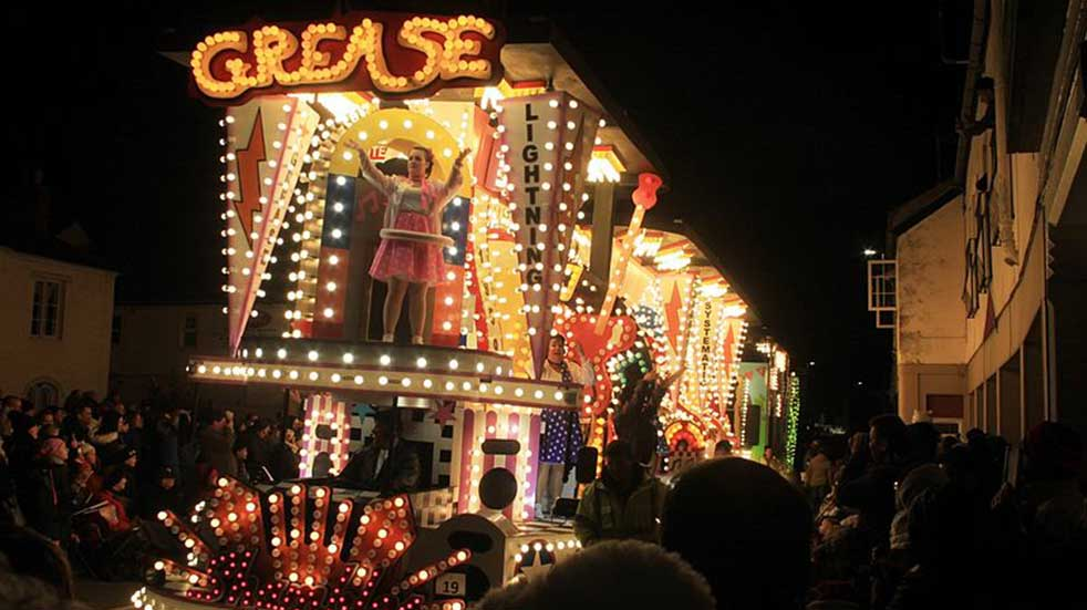 25 free events November Bridgwater Carnival float