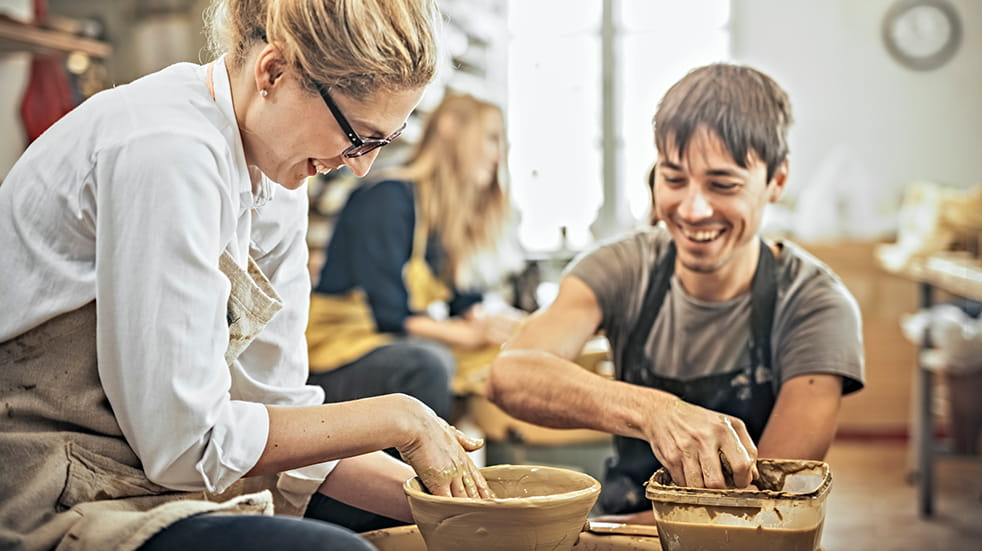 25 free things to do in May: throwing pottery on a wheel at Hey Clay!