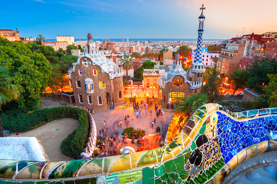 Best off peak holiday destinations in Spain: Photo of Barcelona during the day from a colourful balcony