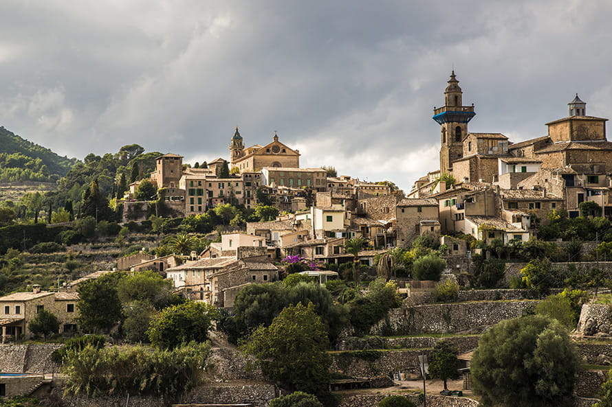 Best off peak holiday destinations in Spain: Valldemossa village in Majorca, Spain