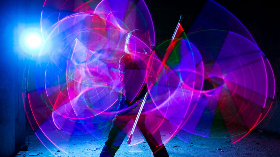 Free things to do this week: light dancer at Nottingham Light Night