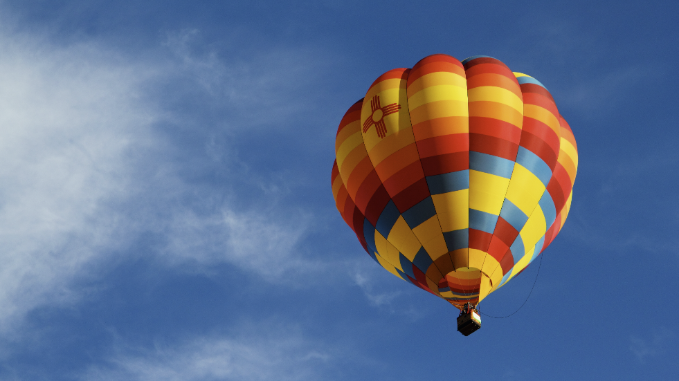 Try new things like a hot air balloon ride experience