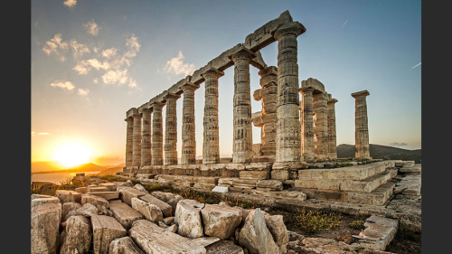 Better photography tips: The ruins of the Temple of Poseidon, on the Attica Peninsular, Greece.