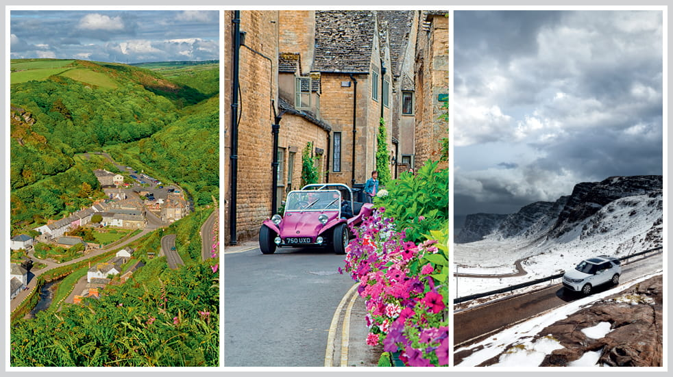 The 50 greatest UK drives: Bealach Na Ba in Scotland, the Fosse Way in the Cotswolds, and Boscastle to Bude in Cornwall