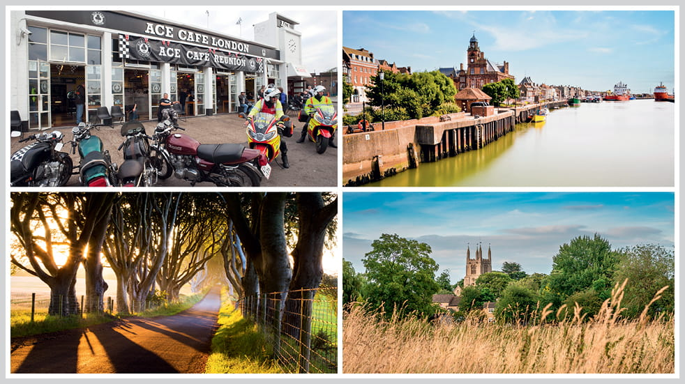 The 50 greatest UK drives: Bourne in the East-Midlands, Norfolk Broads and Great Yarmouth, County Antrim's Dark Hedges, and Maidenhead to London