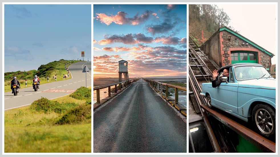 The 50 greatest UK drives: Exmoor, Northumberland coast, and Horseshoe Pass in Wales