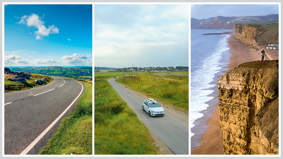 The 50 greatest UK drives: Jurassic Coast Weymouth to West Bay, Norfolk coast, and Black Mountain Road in Brecon Beacons