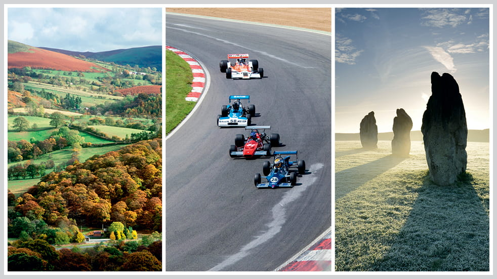 The 50 greatest UK drives: Powys in Wales, Brands Hatch racing track, and North Wessex Downs