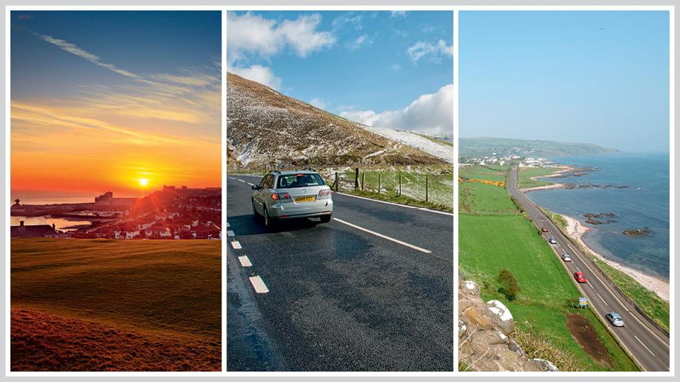The 50 greatest UK drives: High Weald in Kent, Brecon Beacons in Wales, and Larne to Cushendall in Northern Ireland