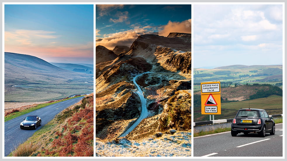 The 50 greatest UK drives: Snake Pass in the Peak District, Trotternish circuit on the Isle of Skye, and Aberystwyth mountain road