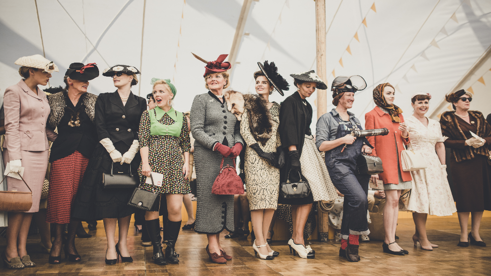 Vintage fashion at Goodwood Revival