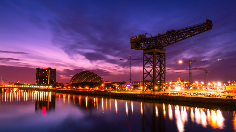Glasgow by sunset