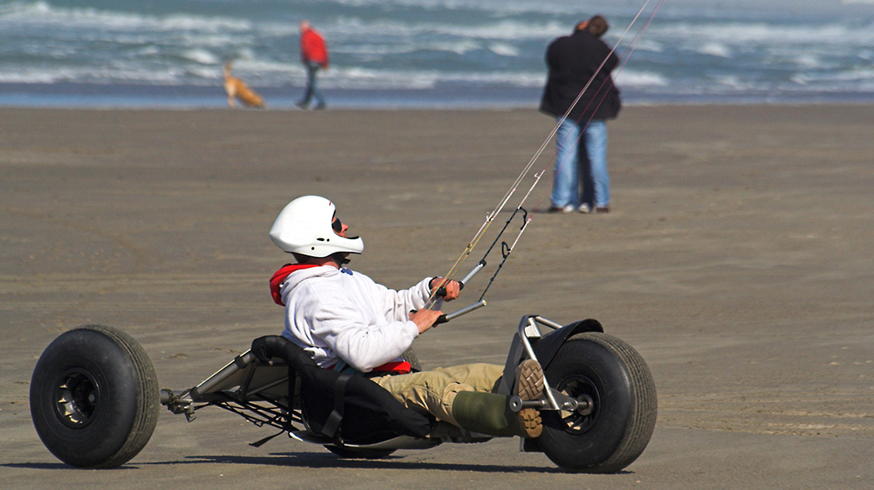 Best adrenaline days out: kite buggy on the beach