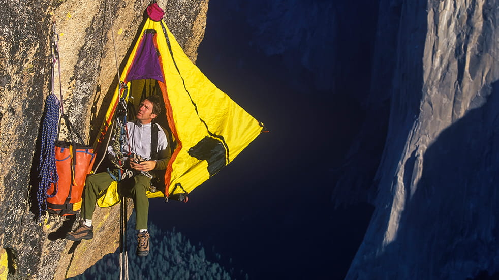 Best adrenaline days out: portaledge camping