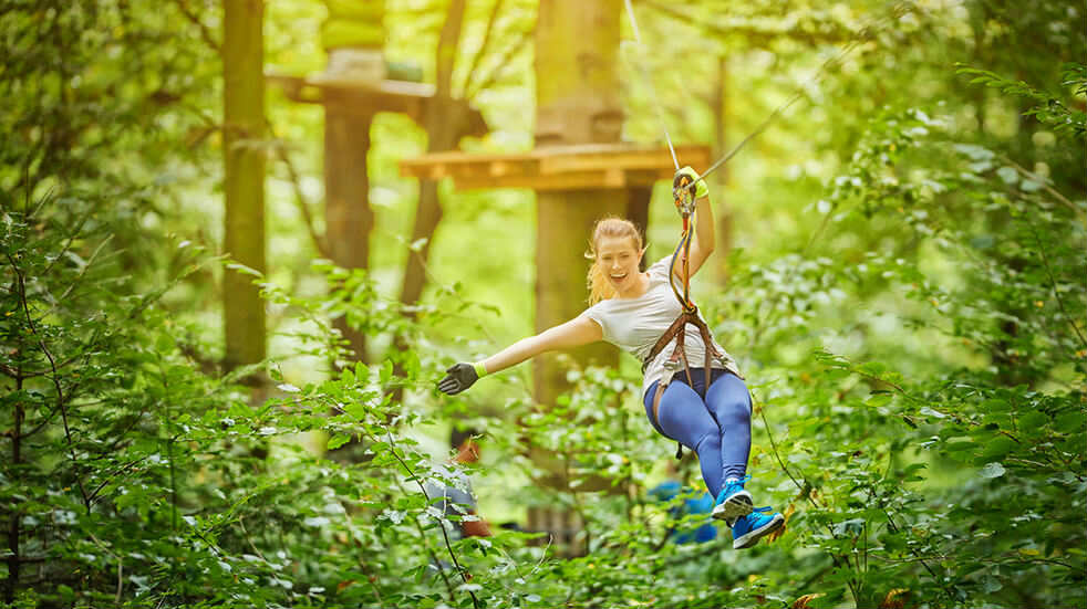 Best adrenaline days out: zip line ride