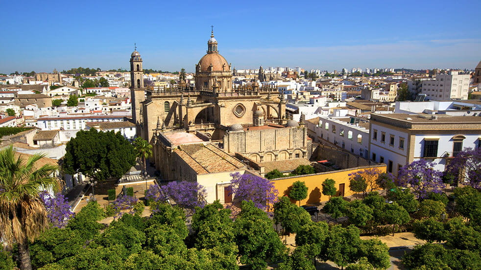 The Cathedral de Jerez is a quieter Andalucian destination