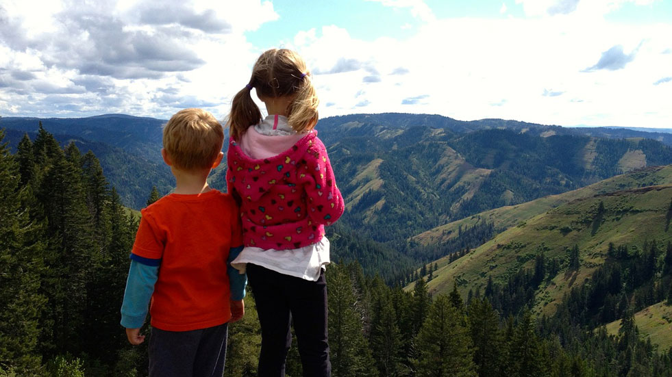 Backpacking with kids; mountain