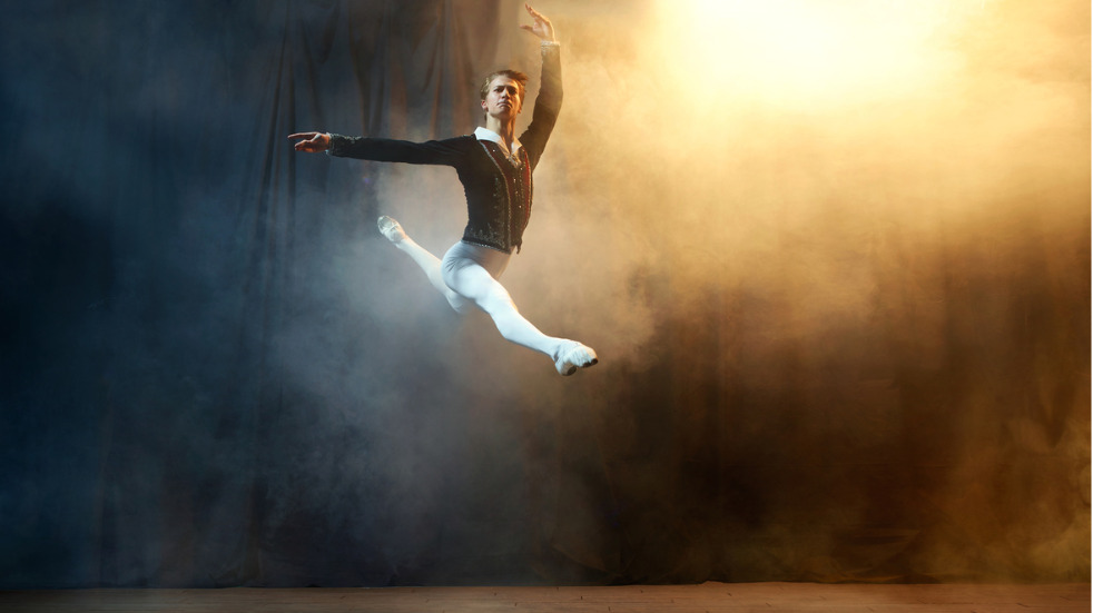 How high can male ballet dancers jump?