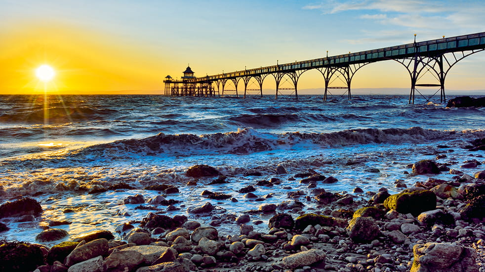 Best British piers: Clevedon in Somerset, Grade 1 listed