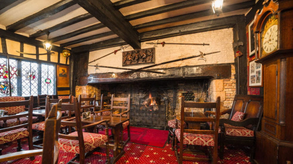 The best cosy pubs in the UK: the Giant's Fireplace in the Mermaid Inn in Rye