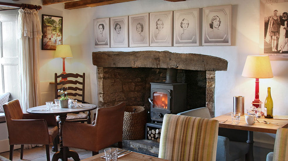 The best cosy pubs in the UK: the Swan Inn in Swinbrook