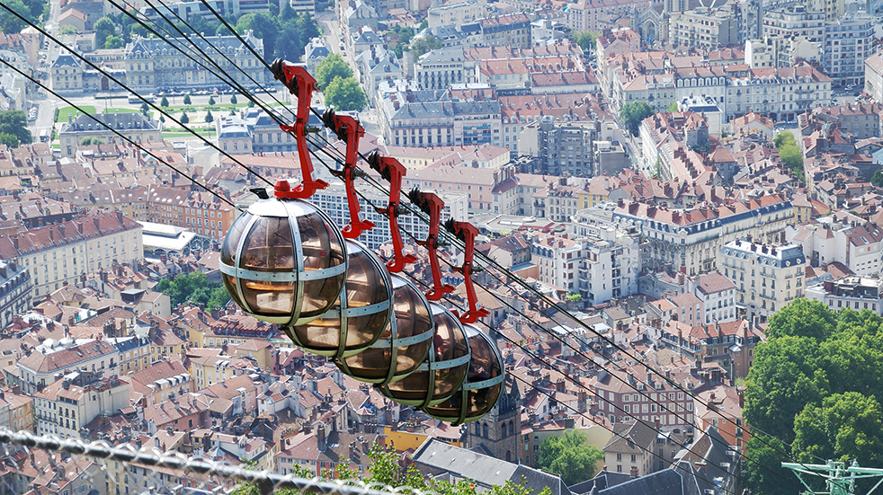 Best drives in France: Route Napoleon cable cars in Grenoble
