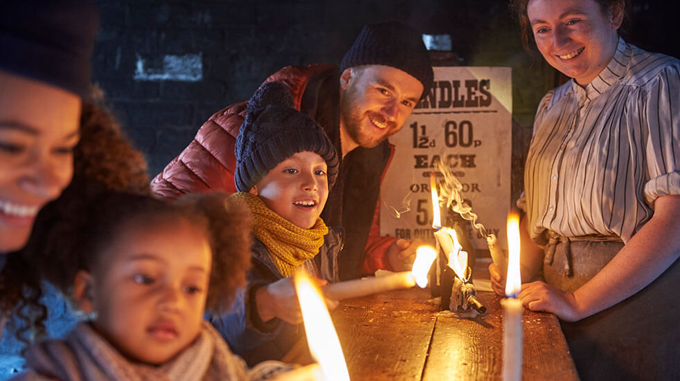 Blists Hill Victorian Museum: candle dipping - best family days out in Shropshire