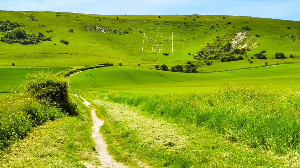 Best free days out in Sussex - Long Man in Wilmington