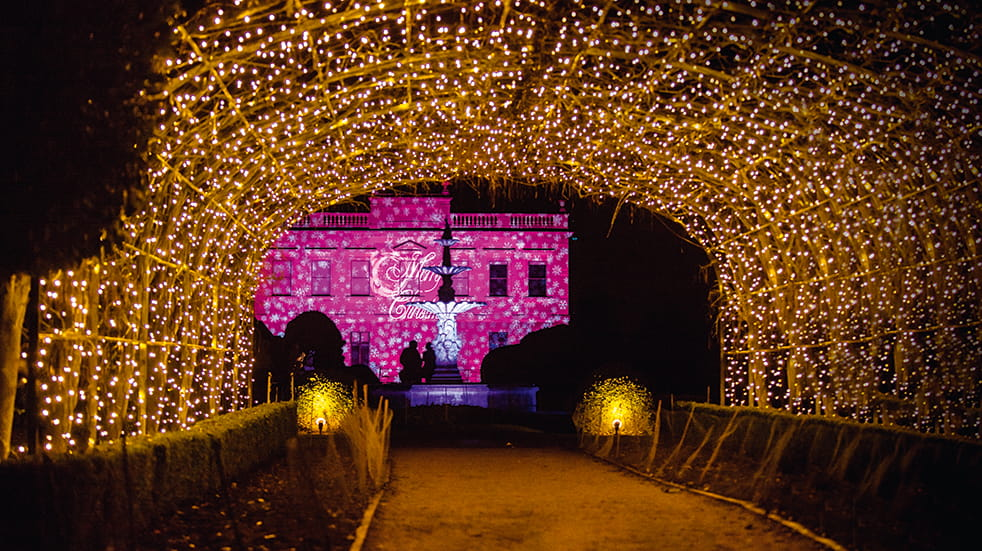 Best winter illuminations: Brodsworth Hall, English Heritage