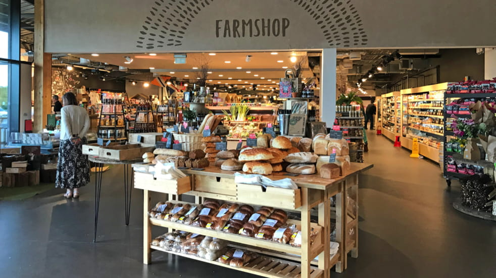 Best motorway services farm shop at Gloucester motorway service station